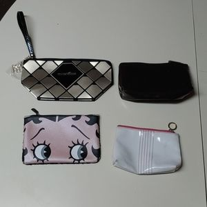 Lot of 3 Cosmetic Bags 2 NWOT 2 Gently Used